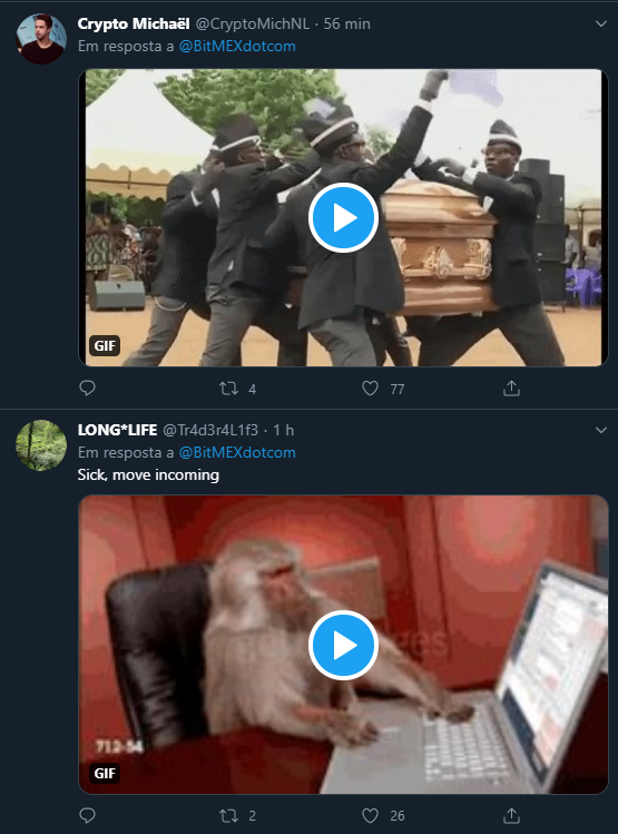 Memes sobre a BitMEX tomam conta do Twitter