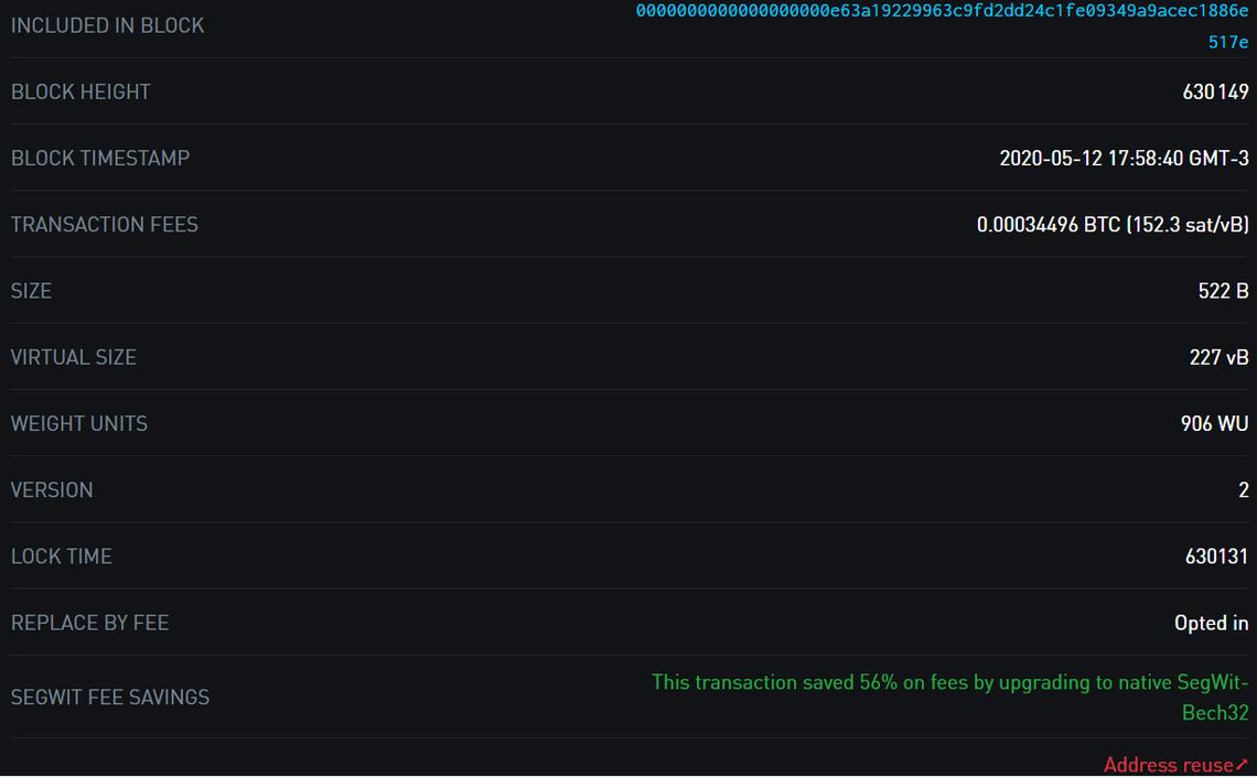 85.000 BTC transferidos por aproximadamente U$ 2,75