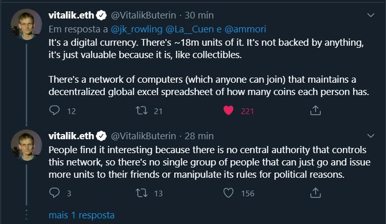 Vitalik Buterin Responde à JK