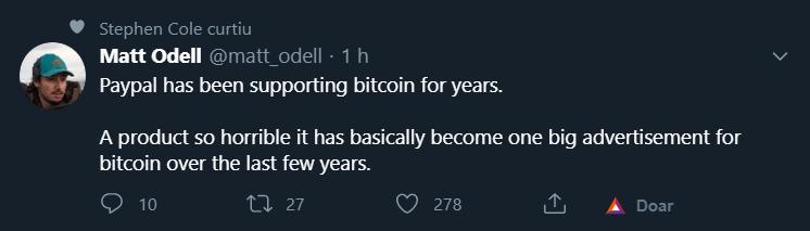 Crypto Twitter reage à notícia