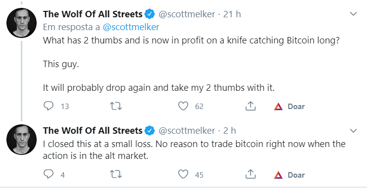 Tweet do The Wolf of All Streets